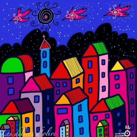 Les maisons en couleurs